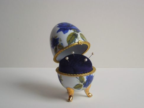 China egg pin cushion