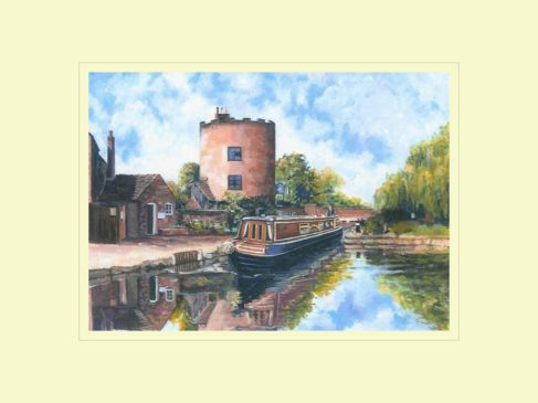Gailey Round House, Staffs & Worcs Canal Print