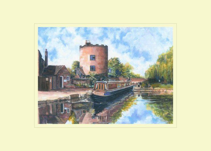 Gailey Round House, Staffs & Worcs Canal Print